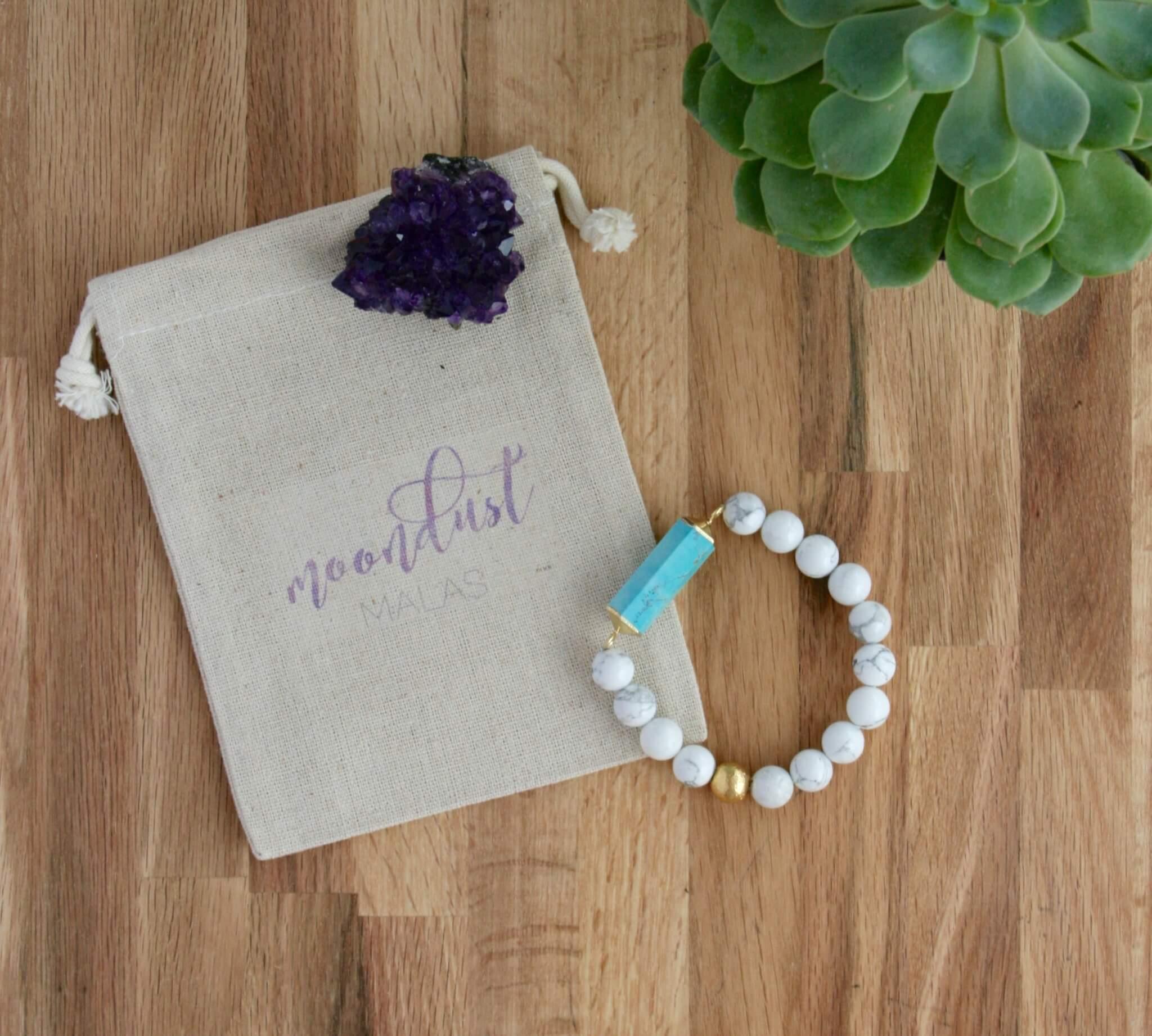 howlite turquoise keep calm bracelet