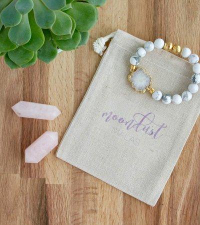 howlite white druzy bracelet