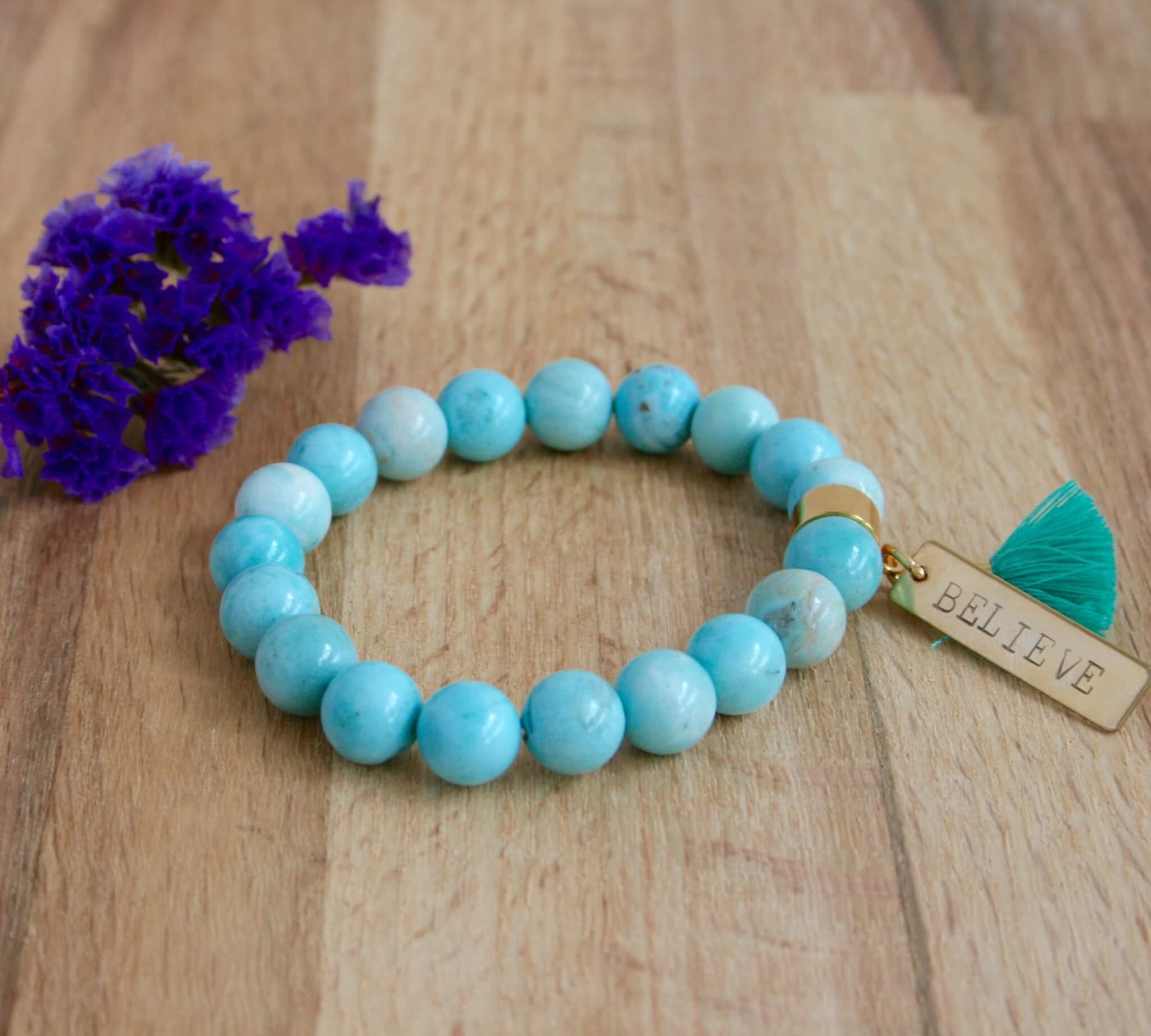 larimar believe bracelet