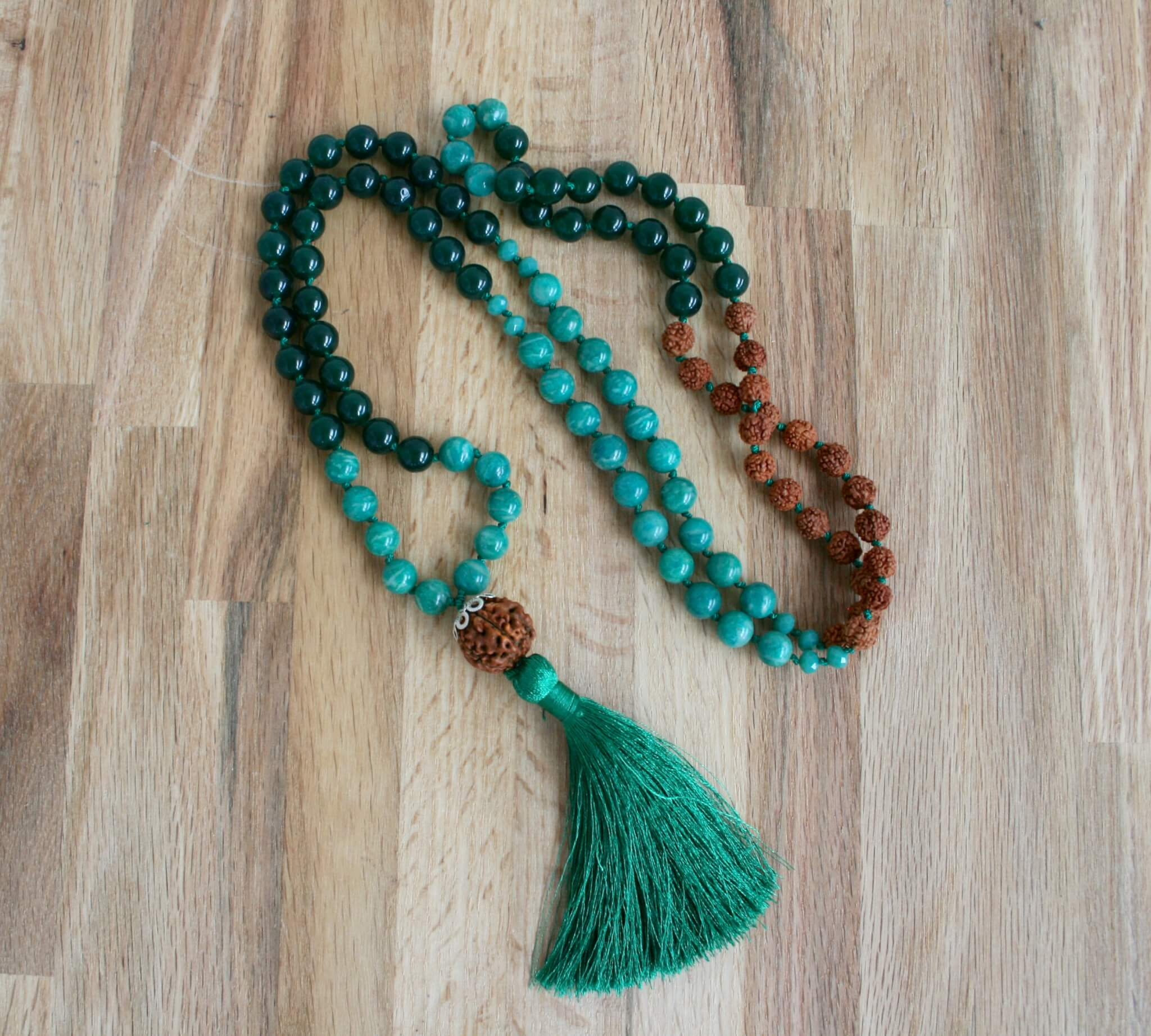 rainforest mala necklace
