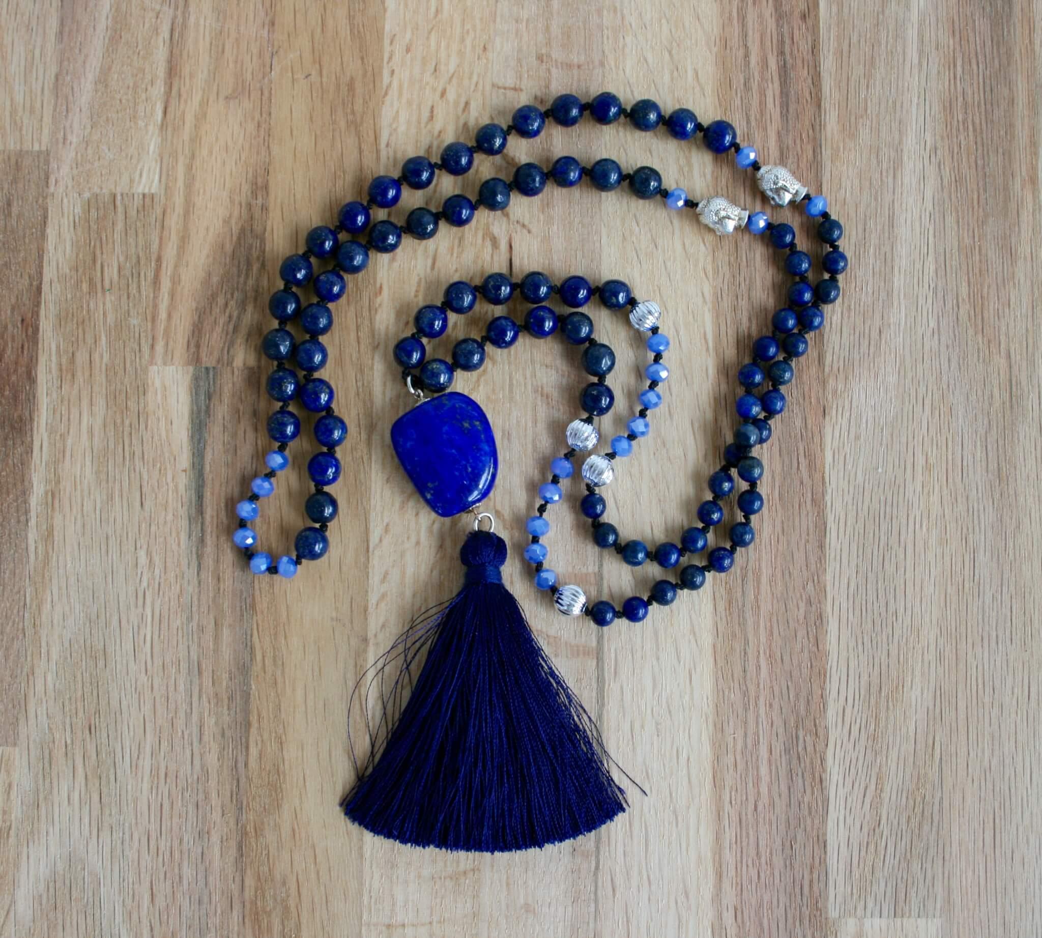 lapis lazuli midnight sky mala